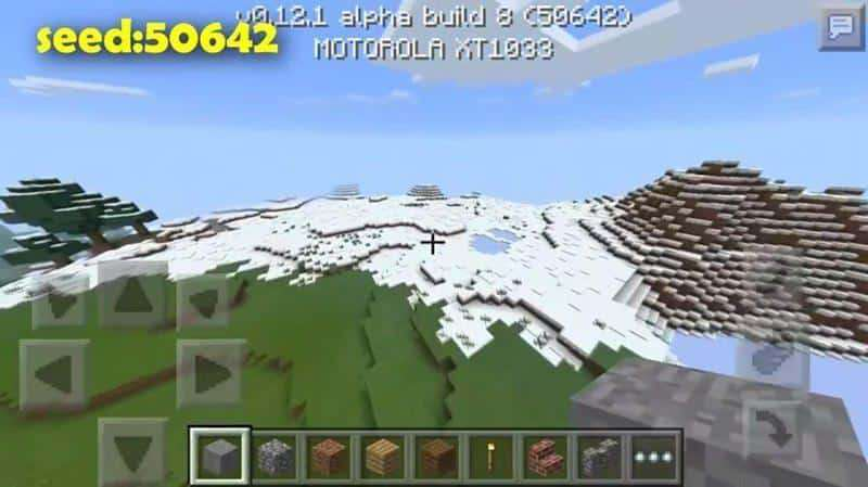5 Best Snow Biome Seeds For Minecraft Pe 0 15 0 Snow Villages Ice Spikes Thunder 1 2 0 7 Mcpe Box