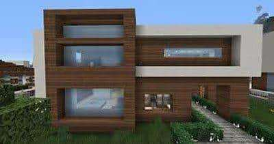 Perfect Modern House Map For Minecraft PE 0140