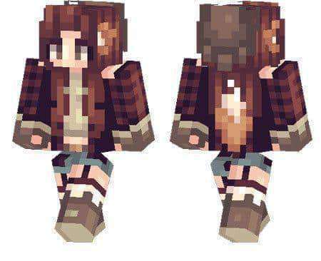 Foxy Girl Skin For Minecraft PE MCPE Box - Skins para minecraft pe foxy