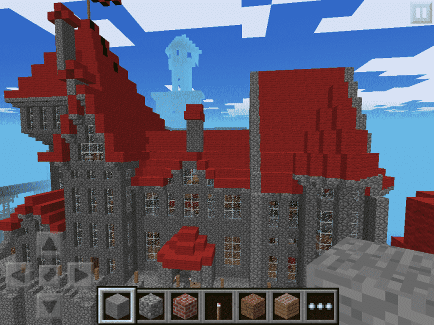 Amazing castle on a mountain seed minecraft pe game