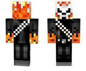 Ghost rider skin for Minecraft PE
