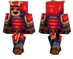 Red Samurai skin for Minecraft PE
