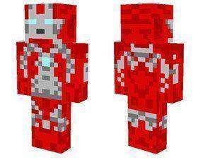 Ultraman tiga skin for Minecraft PE