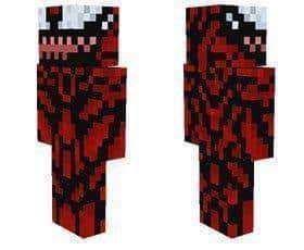 Carnage Skin For Minecraft PE MCPE Box - Skins para minecraft pe de spiderman