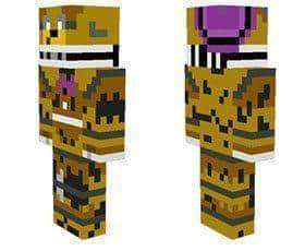 Nightmare Fredbear skin for Minecraft PE