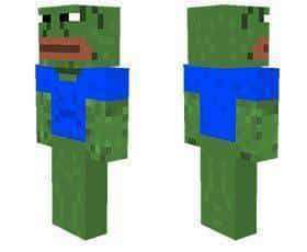 Pepe the frog skin for Minecraft PE