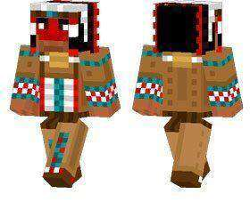 Native American Chief skin for Minecraft PE
