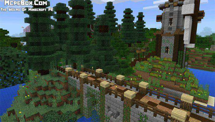 Fantasy Town | Creation Map for MCPE 0.15.0