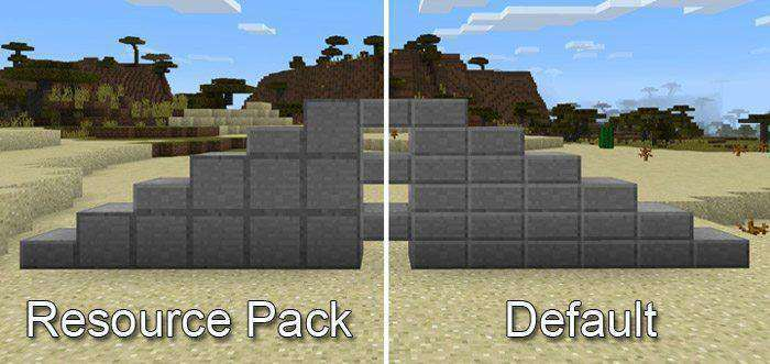 Full Stone Slab Sides Texture Pack for Minecraft PE