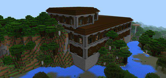 Woodland Mansion At Spawn  1 1 0 9  Only  Seed For Minecraft Pe 1 2 0 7