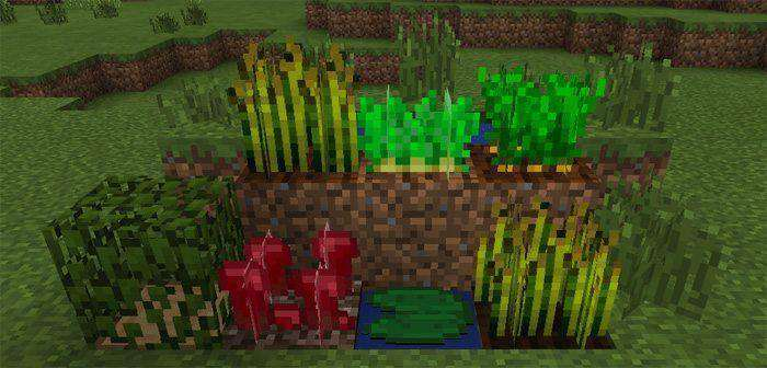 Waving Plants Resource Pack for Minecraft PE