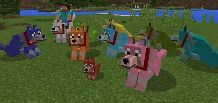 Colorful Mutant Wolves Addon for Minecraft PE 1 2 0 7 | MCPE Box