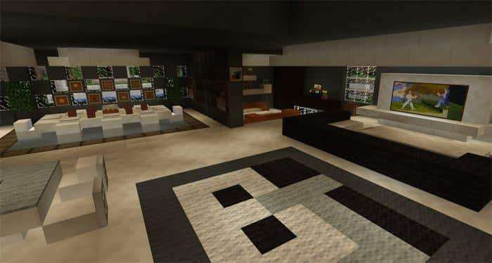 Modern Super Mansion Creation Map for Minecraft PE 1.2.0 ...
