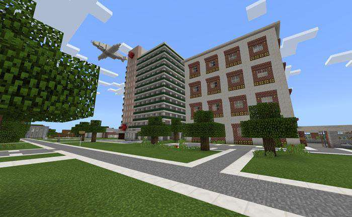 Elmsville: A Modern City (Roleplay) [Creation] Map for Minecraft PE