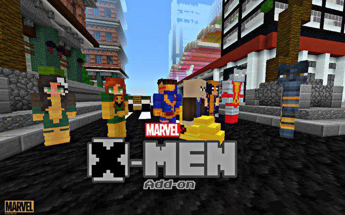 X-Men Addon superhero for Minecraft PE