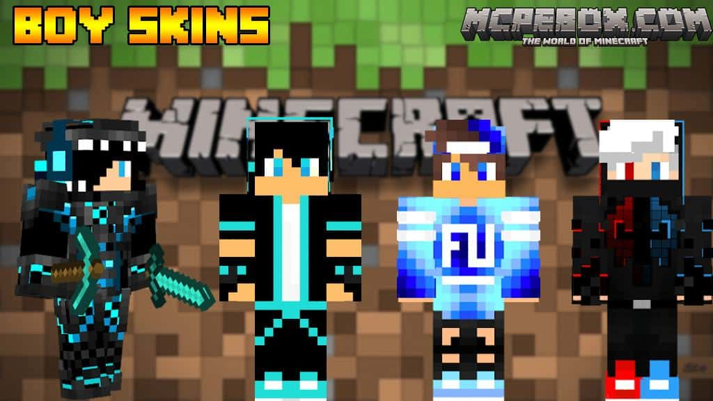 Boy skins for Minecraft PE