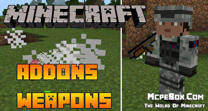 MCPE Addons Weapons