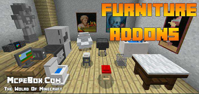 MCPE Furniture Addons