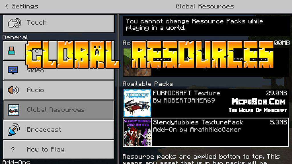 Global Resource Packs