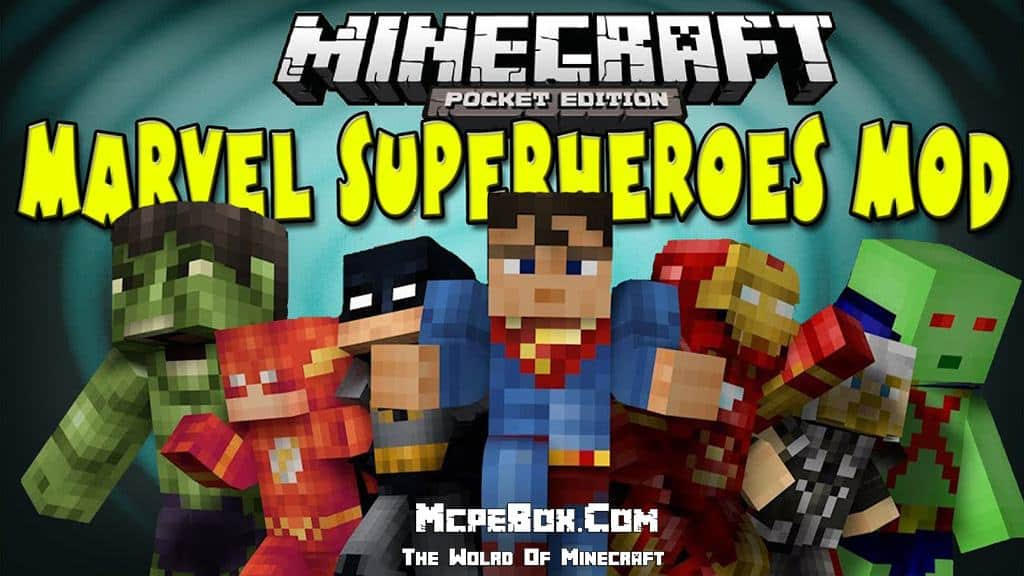 superhero mod for Minecraft PE