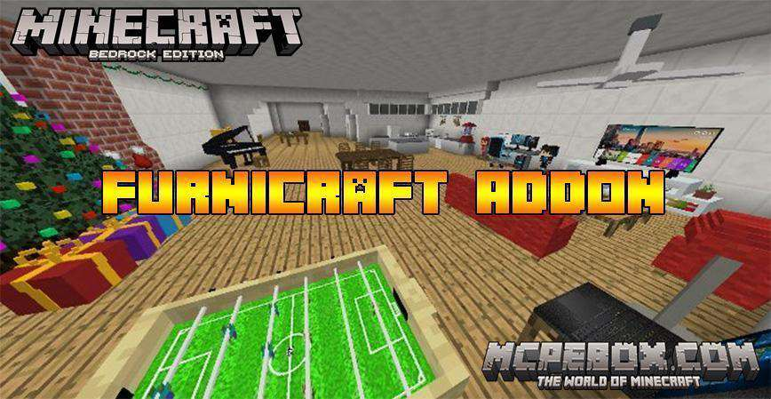 Furnicraft Addon for Minecraft PE