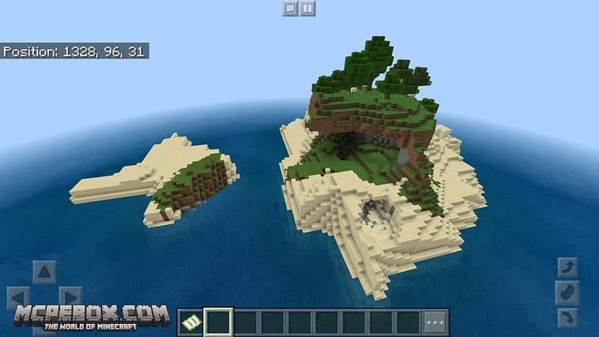 Perfect Survival Island Seed for MCPE