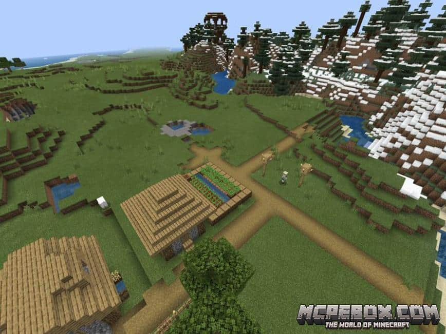 Pillagers, Desert Village and a Cool Ravine