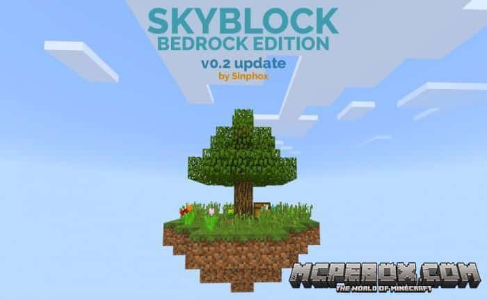 Skyblock map for Minecraft Bedrock Edition