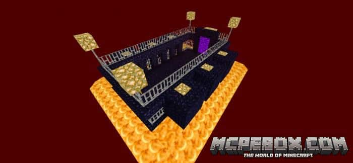 maps for minecraft pe skywars