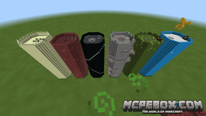 The Extreme Dropper maps for Minecraft Pocket Edition