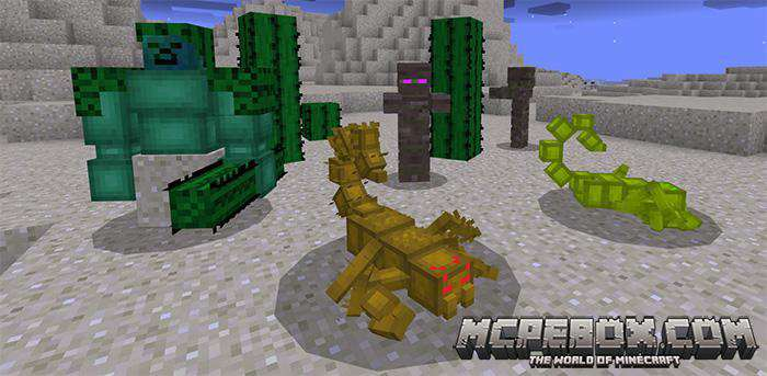 dinosaur mod for Minecraft PE