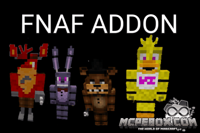 Five Nights At Freddy Addon for Minecraft Bedrock Edition