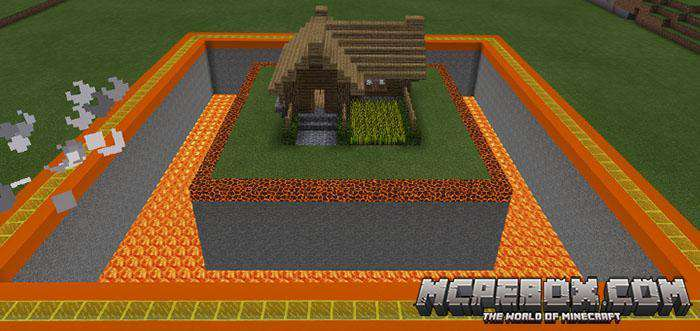 MCPE modern house map download