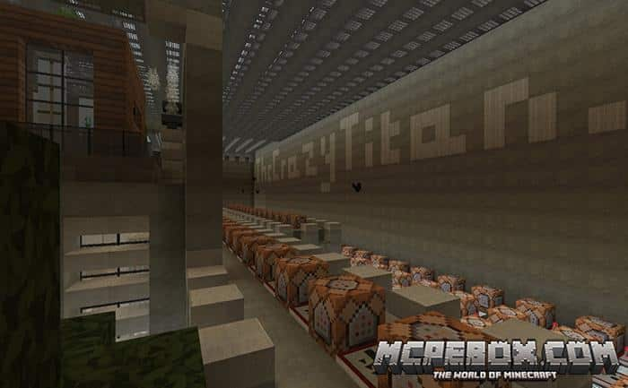 Self Building Modern House Map Maps For Minecraft Pe Mcpe Box