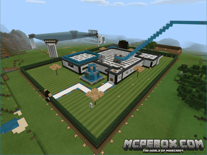 Sleek N Modern Redstone Mansion maps for Minecraft Pocket Edition