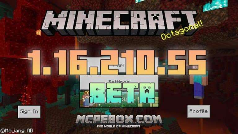 Download Minecraft PE 1.16.210.55 BETA APK for Android
