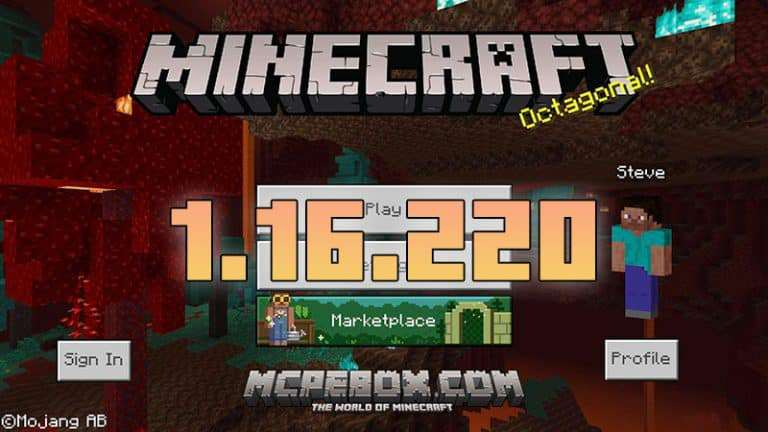 Download Minecraft PE 1.16.220 APK Full Version for Android
