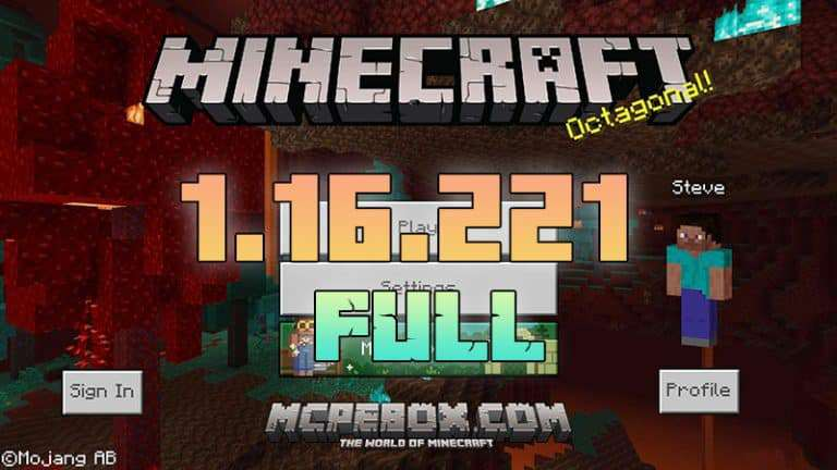Download Minecraft PE 1.16.221 APK Full Version for Android