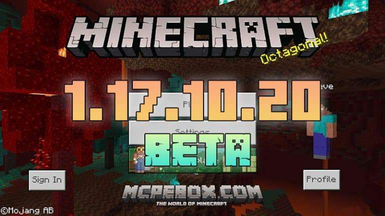 Download Minecraft PE 1.17.10.20 BETA for Android