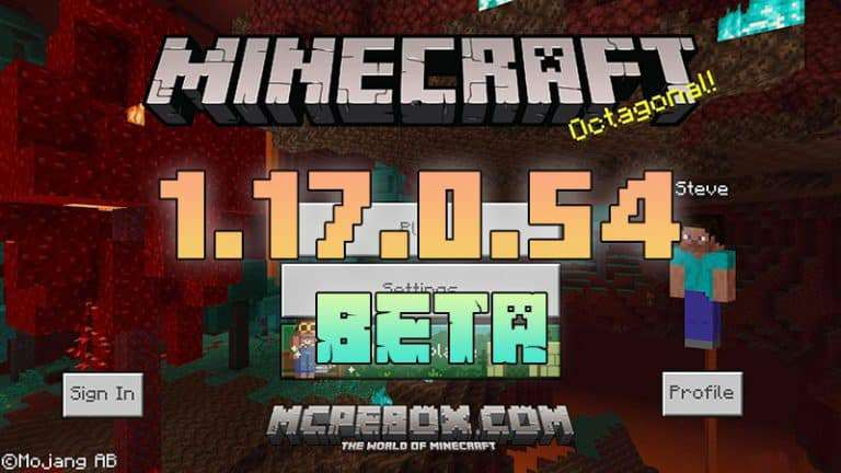 Download Minecraft PE Beta – 1.17.0.54 APK for Android