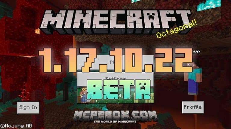 Download Minecraft PE 1.17.10.22 BETA for Android