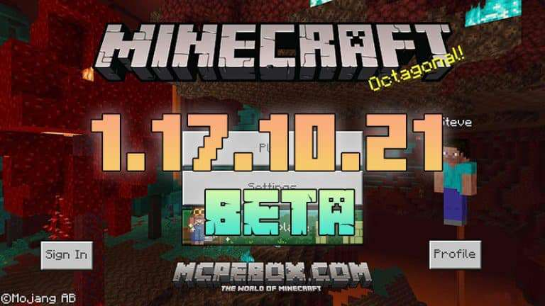 Download Minecraft PE 1.17.10.21 BETA for Android